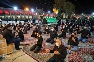 Mourning Ceremony at Shah Cheragh Mausoleum Marks Imam Hassan (AS) Martyrdom